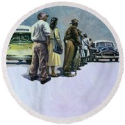 Pools Of Defiance Round Beach Towel
