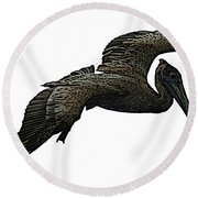 Pop Art - Pelican Selection Round Beach Towel