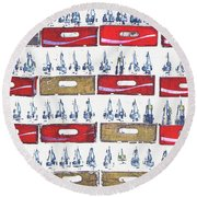 Pop Art Coke Cases Round Beach Towel