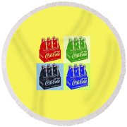 Pop Coke Round Beach Towel