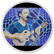 Round Beach Towel featuring the drawing Pop-op Full Band by Joshua Morton