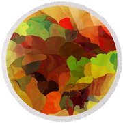 Round Beach Towel featuring the digital art Popago by David Lane