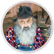 Popcorn Sutton - Moonshine Legend - Landscape View Round Beach Towel