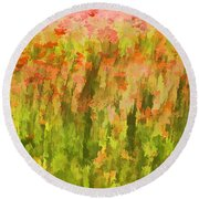Poppies Of Tuscany IIi Round Beach Towel