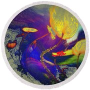 Poppies Two Round Beach Towel