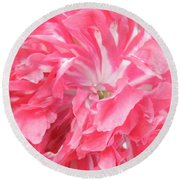 Popping Pink Round Beach Towel by Brian Boyle