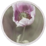Poppy Round Beach Towel by Elaine Teague