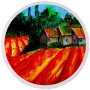 Poppy Field  Sold Round Beach Towel