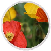Poppy Iv Round Beach Towel