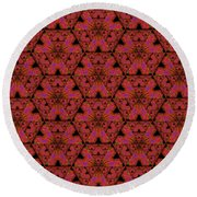 Poppy Sierpinski Triangle Fractal Round Beach Towel