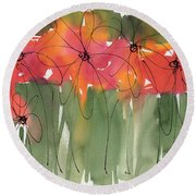 Poppy To Posy Round Beach Towel