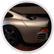 Round Beach Towel featuring the photograph Porsche 1987 959 by John Schneider