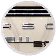 Porsche 50th Anniversary Rear Badge Round Beach Towel