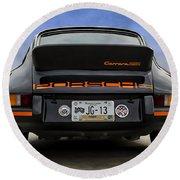 Porsche Carrera Rsr Round Beach Towel by Douglas Pittman