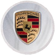Porsche Emblem 911 Round Beach Towel
