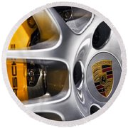 Porsche Wheel Round Beach Towel