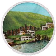 Port Isaac Round Beach Towel