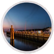 Port Jefferson Round Beach Towel