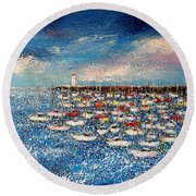 Port Round Beach Towel