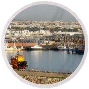 Port Of Agadir Morocco 1 Round Beach Towel