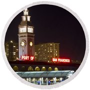 Port Of San Francisco Round Beach Towel