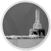 Port Washington Harbor Round Beach Towel