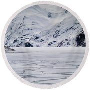 Portage Lake Round Beach Towel