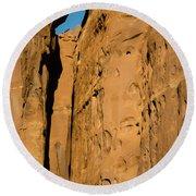 Portal Through Stone Round Beach Towel by Jeff Kolker