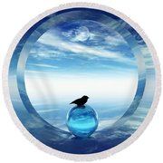 Portal To Peace Round Beach Towel