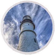 Portland Headlight Round Beach Towel by Jane Luxton