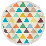 Portland Triangles Round Beach Towel