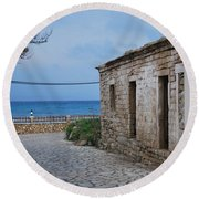 Porto Round Beach Towel by George Katechis