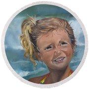 Portrait - Emma - Beach Round Beach Towel