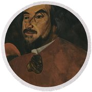 Portrait Of An Actor Said To Be Nikolai Alexandrov  Round Beach Towel