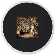Portrait Of Autumn Round Beach Towel