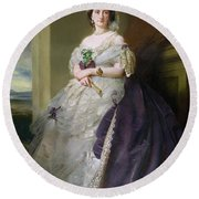 Portrait Of Lady Middleton 1824-1901, 1863 Round Beach Towel
