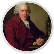 Portrait Of Louis Jean Marie Daubenton 1716-1800 1791 Oil On Canvas Round Beach Towel