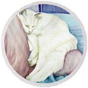Portrait Of Monroe Round Beach Towel