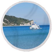 Poseidon 3 Round Beach Towel by George Katechis