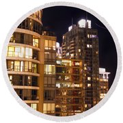 Round Beach Towel featuring the photograph Posh Neighbors Dccxl by Amyn Nasser