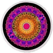 Positive Energy 1 - Mandala Art By Sharon Cummings Round Beach Towel