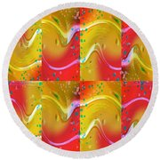 Positive Vibrations Round Beach Towel