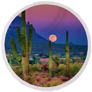 Postcard Perfect Arizona Round Beach Towel