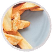 Potato Chips Round Beach Towel