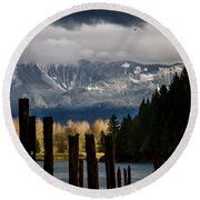 Potential - Landscape Photography Round Beach Towel by Jordan Blackstone