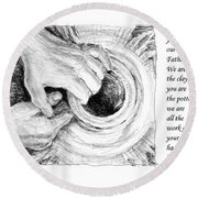 Potter And Clay Round Beach Towel by Janet King