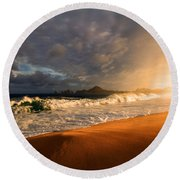 Round Beach Towel featuring the photograph Power by Eti Reid