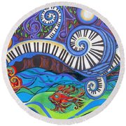 Power Of Music II  Round Beach Towel