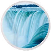 Power Of Niagara Falls Round Beach Towel