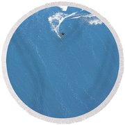 Power Turn Round Beach Towel